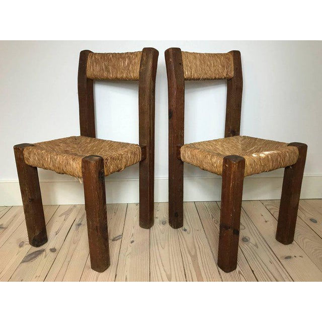 Pair of 19th Century French Side Chairs For Sale - Image 4 of 5