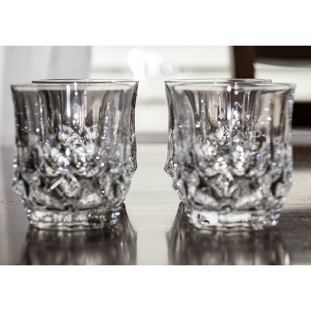 Double Czech Crystal Glasses - Set of 4 - Image 4 of 4