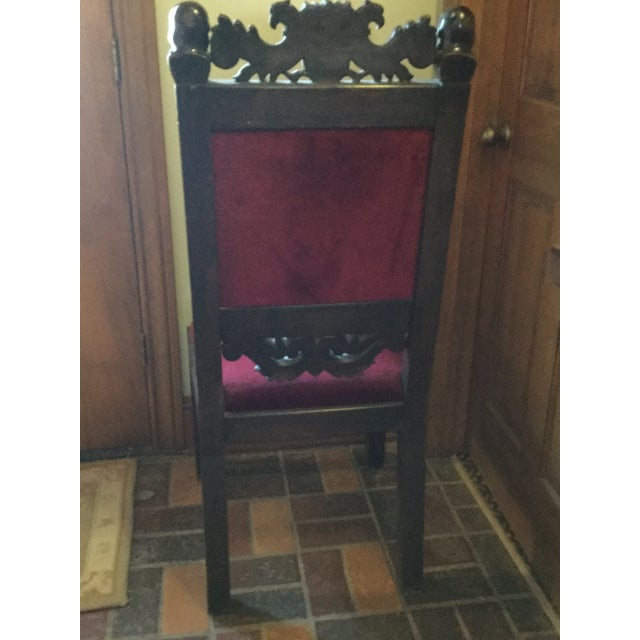 Brown Scottish Farthingale Chairs- 2 For Sale - Image 8 of 10