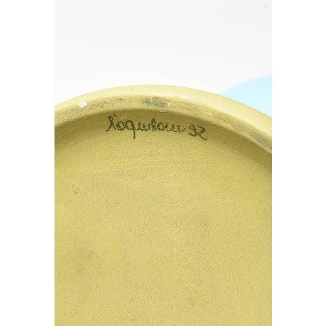 """Italian L""""Aquilone Hand-Painted Ceramic Vessel/ Vase/ Sculpture - Image 11 of 12"""
