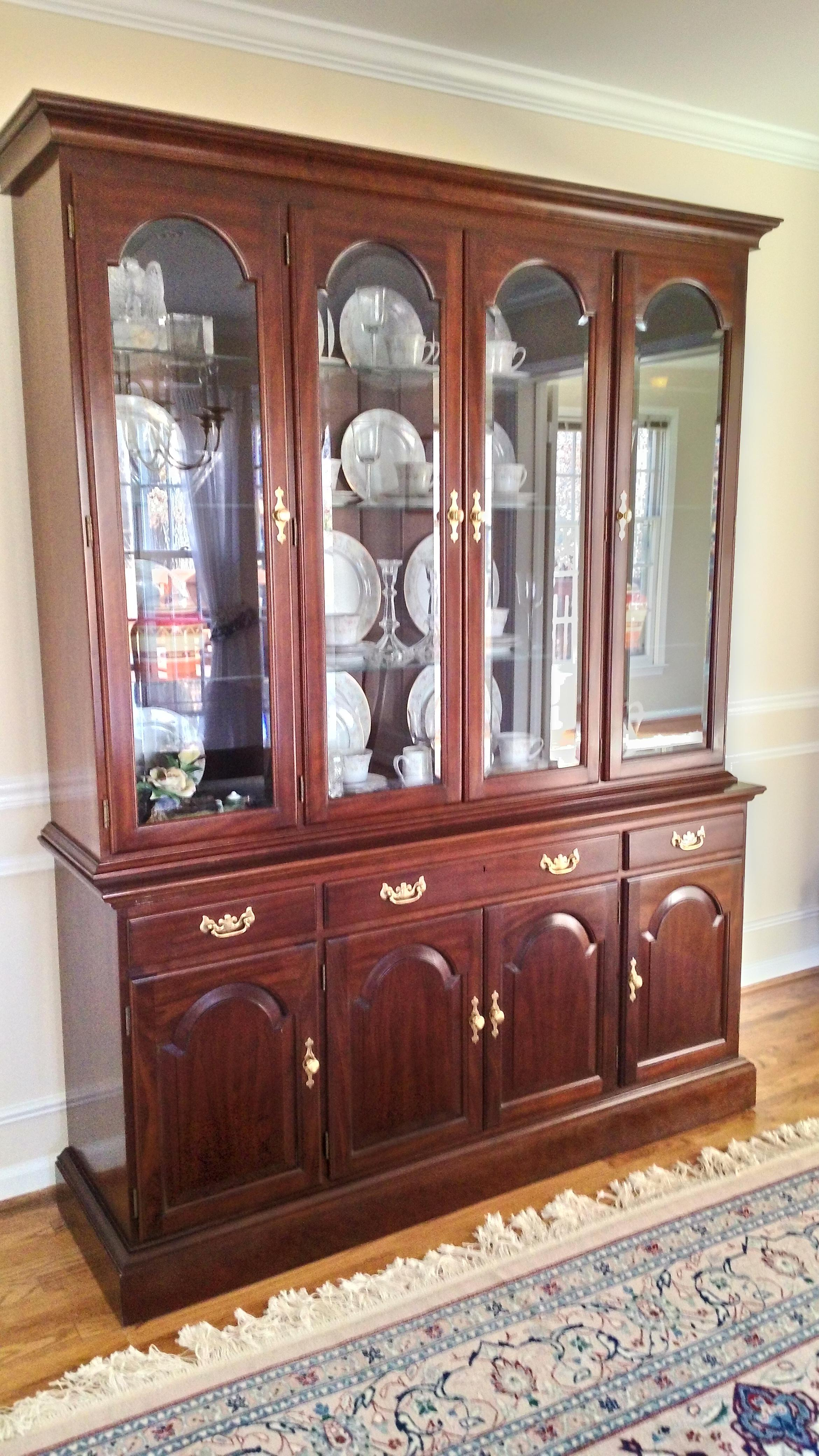 Stickley Solid Cherry China Cabinet   Image 5 Of 5