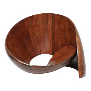 Norman Ridenour Walnut Sculpture For Sale