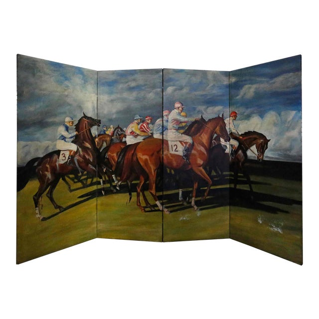 Folding Screen - Hand Painted For Sale