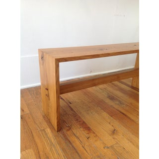 Organic Modern Oak Bench by Mike Feagan Preview