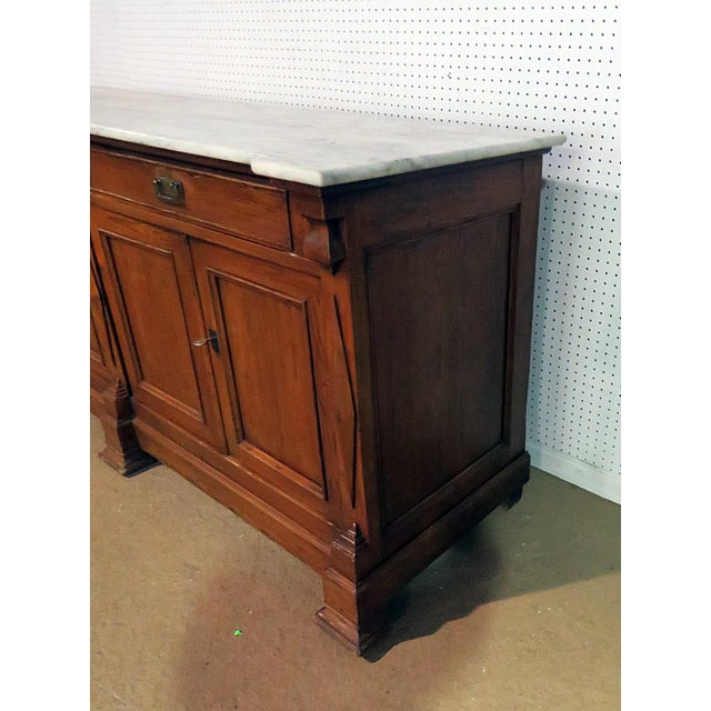 Continental Style Marble Top Sideboard For Sale In Philadelphia - Image 6 of 8