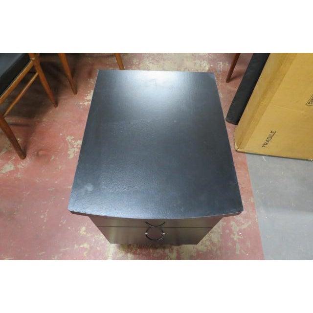 Vintage Industrial 2 Drawer Black Laminate File Cabinet For Sale - Image 4 of 6