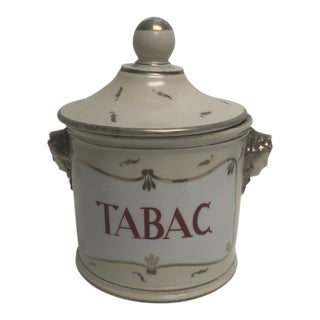 French Lidded 'Tobacco' Jar For Sale