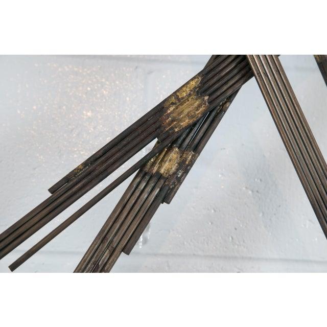 Brutalist Sunburst Metal Sculpture - Image 8 of 8
