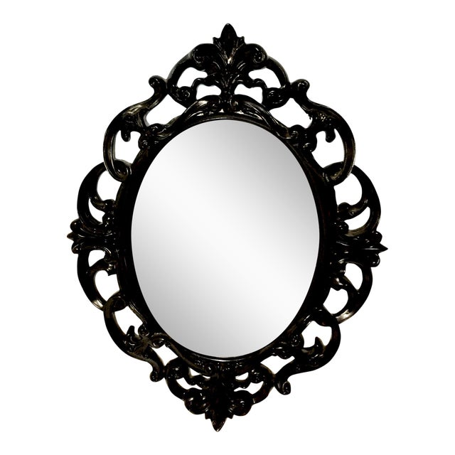 Black Lacquer Wall Mirror - Image 1 of 5