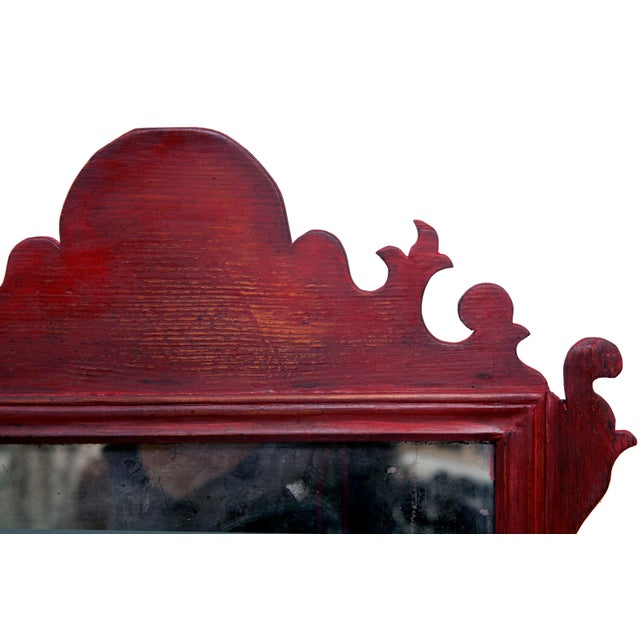 Chippendale Vintage English Chippendale Mirror For Sale - Image 3 of 5