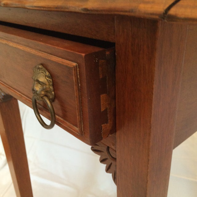 Vintage Drop Leaf Side Tables - A Pair - Image 6 of 9