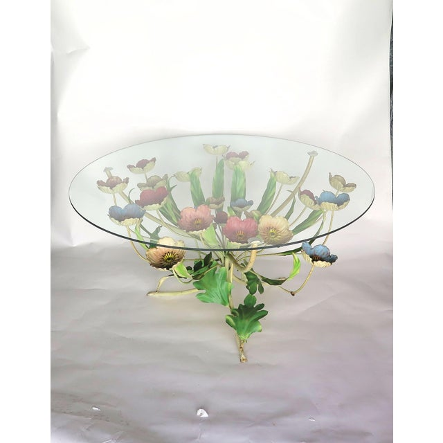 1960s Italian Multi-Color Tole Wrought Iron Coffee Table For Sale In Los Angeles - Image 6 of 6