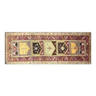 "1960s Turkish Oushak Carpet - 4'6"" X 12' For Sale"