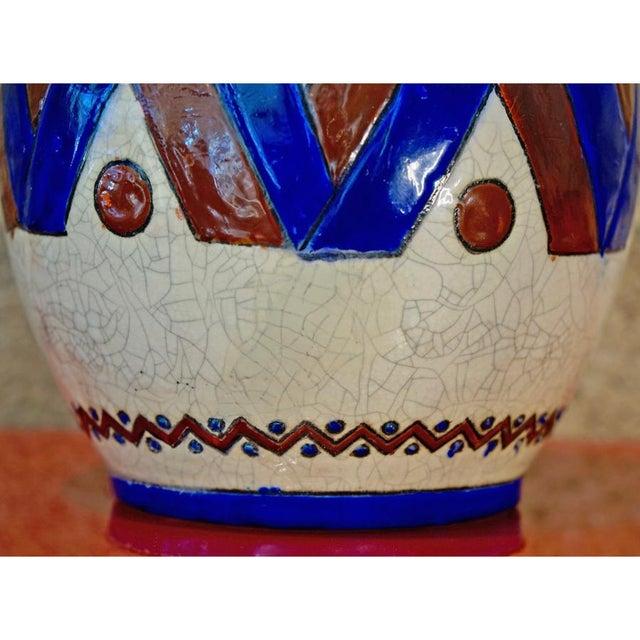 1920s 1920s Jacques Adnet Glazed Vase For Sale - Image 5 of 7