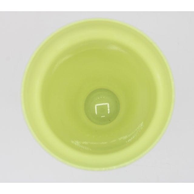 Mid Century Modern Celery Green Glass Vase For Sale - Image 4 of 8