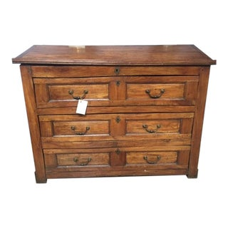 19th Century Walnut Italian Three Drawer Slant Front/Desk Chest For Sale