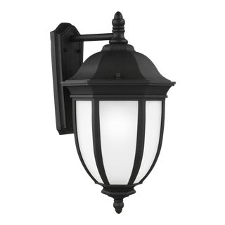 Araminta Extra Large One Light Outdoor Wall Lantern, Black For Sale