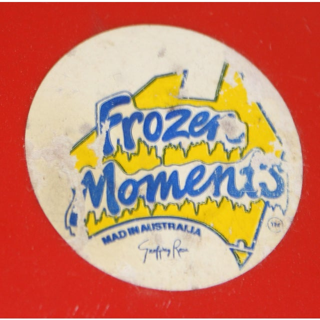 Vintage Frozen Moments Paint Brush Sculpture designed by Australia's Geoffrey Rose. has label on bottom as well as gold...