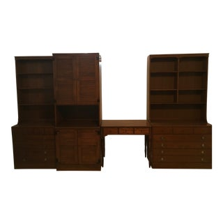 Ethan Allen Bookcases, Entertainment Cabinets & Drawer Base Cabinets - Set of 7