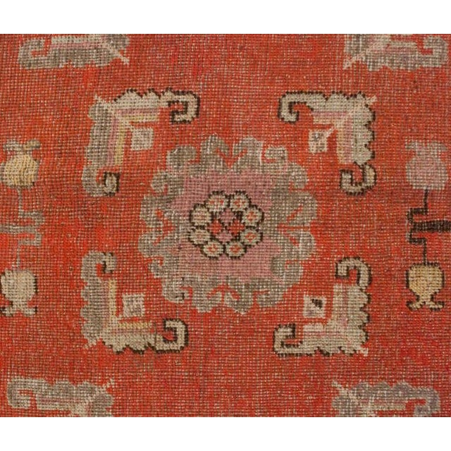 """Late 19th Century Khotan Rug - 76"""" x 156"""" For Sale In Chicago - Image 6 of 6"""