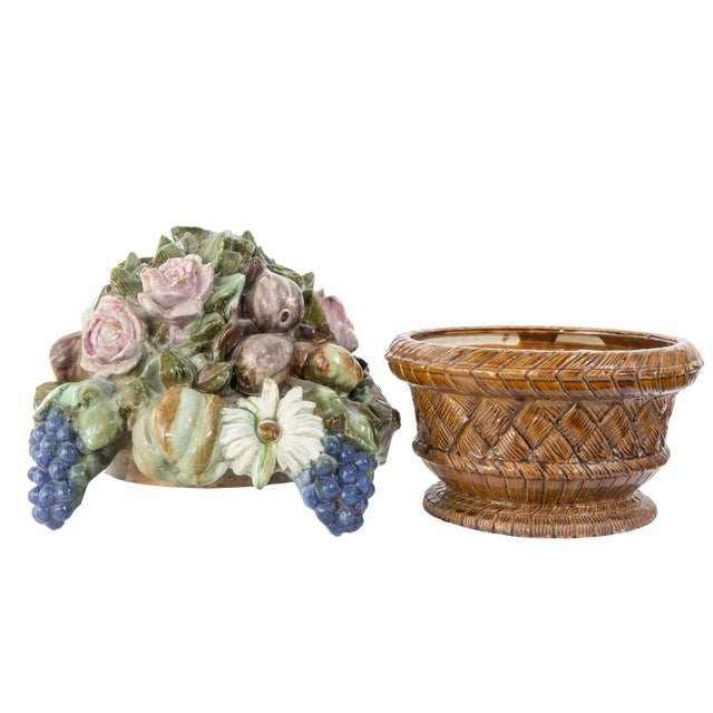 French Antique French Sarreguemines Majolica Tureens - A Pair For Sale - Image 3 of 6