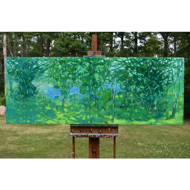 """A Midsummer Day's Dream"" Large (32"" X 80"") Contemporary Painting by Stephen Remick For Sale - Image 11 of 11"