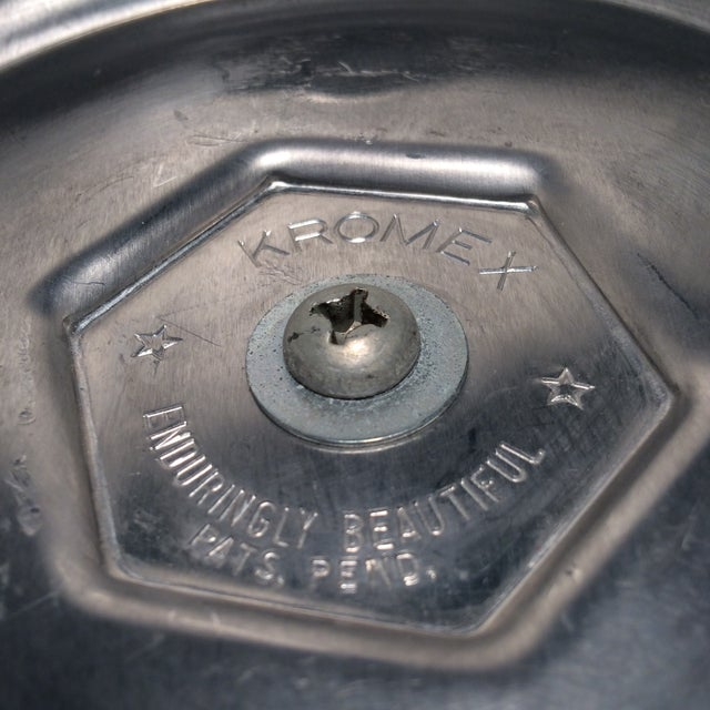 Kromex Brushed Stainless Steel & Chrome Ice Bucket For Sale - Image 5 of 11