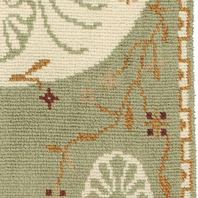 FJ Hakimian Swedish Green Rya Rug For Sale - Image 4 of 5