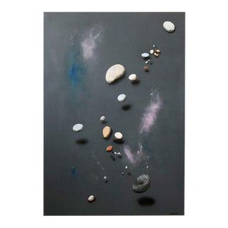 Painting of Rocks by Listed Artist Pat Rosenstein For Sale