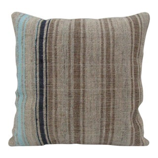 Handmade Vintage Striped Kilim Pillow Cover For Sale