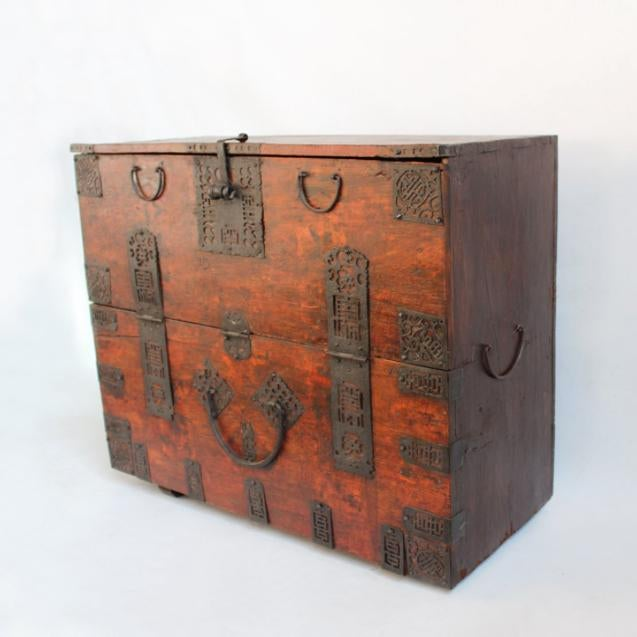 Asian Antique Mongolian Chest For Sale - Image 3 of 4