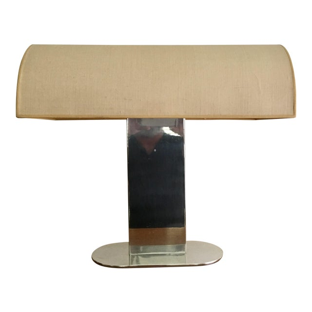 Rare polished aluminum lamp with linen shade by paul mayen for rare polished aluminum lamp with linen shade by paul mayen for habitat inc aloadofball Gallery
