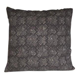 Kim Salmela Printed Gray Mudcloth Accent Pillow