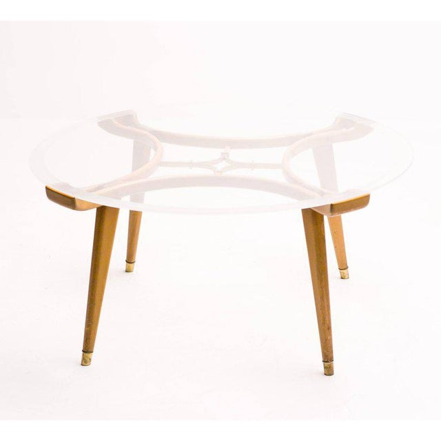 Brass Coffee Table in Walnut by William Watting for Fristho For Sale - Image 7 of 7