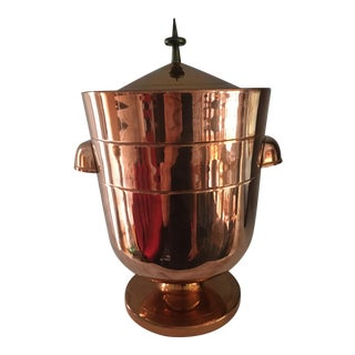 Tommi Parzinger Copper Ice Bucket For Sale