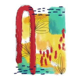 Modern Botanical Abstract #2 Print, 2018
