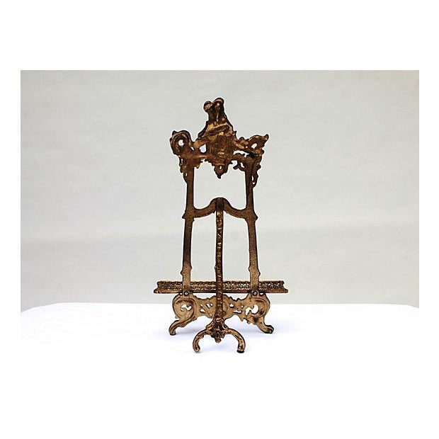 Art Nouveau Cast Brass Easel - Image 5 of 5