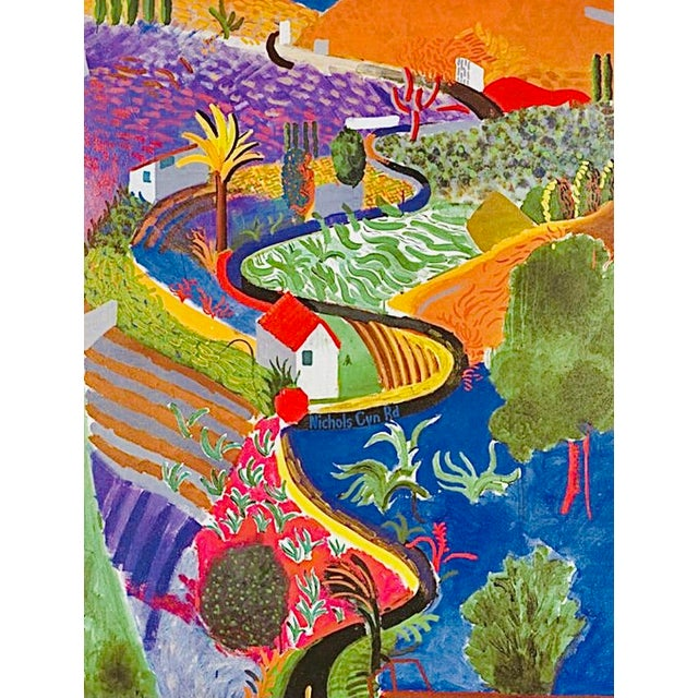 Abstract 2001 Original David Hockney Nichols Canyon Exhibition Poster Denmark For Sale - Image 3 of 7