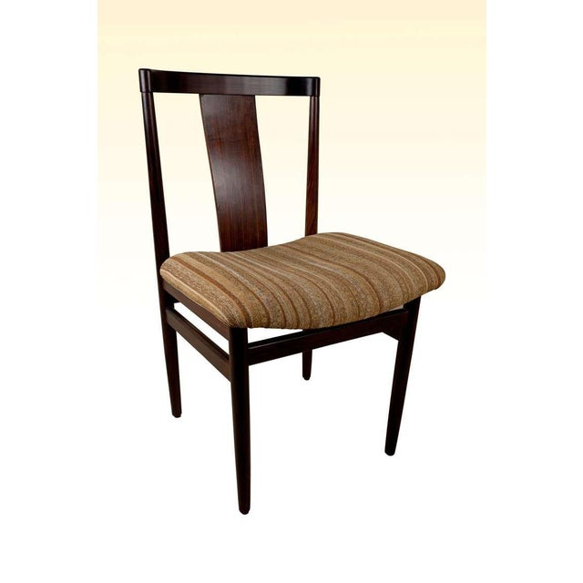 Mid 20th Century Rosewood Mid-Century Modern Side Chairs With Upholstered Seat - a Pair For Sale - Image 5 of 10