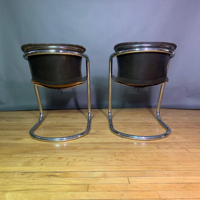 1970s Vintage Willy Rizzo Dining Chairs for Cidue, Italy 1970s For Sale - Image 5 of 13