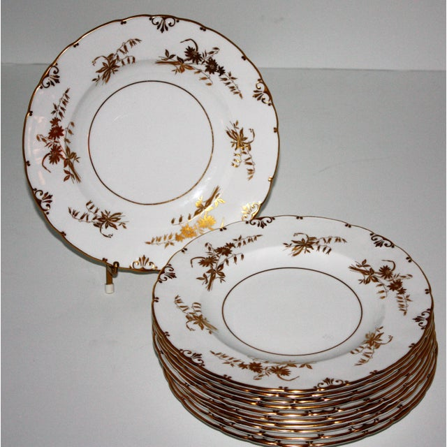 """Royal Crown Derby Porcelain Royal Crown Derby """"Marquis"""" Pattern Dinnerware - Set of 76 For Sale - Image 4 of 11"""