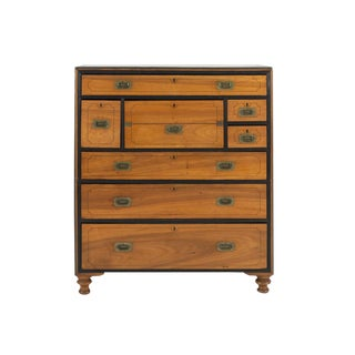 19th Century Two-Part Camphor Wood Campaign Chest For Sale