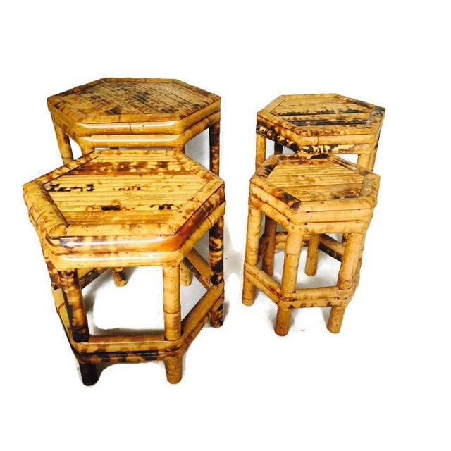 Chinoiserie Bamboo Plant Stands - Set of 4 - Image 6 of 6
