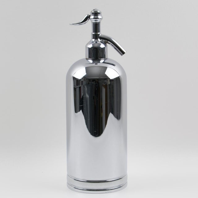 1950s French Soda Siphon Seltzer Water Bottle For Sale - Image 4 of 8