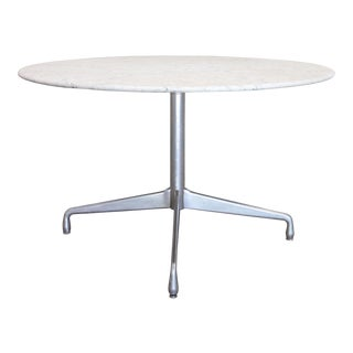 Herman Miller Eames Carrara Marble Dining Table For Sale