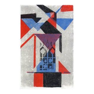 Geometric Abstract, Silkscreen Print, 1977