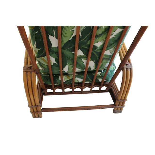 Hollywood Regency Hollywood Regency Rattan Lounge Chair For Sale - Image 3 of 7