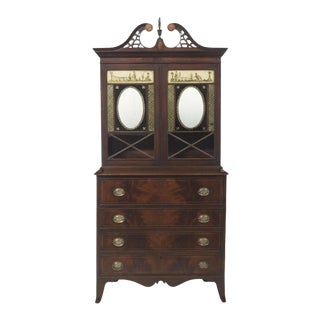 American Federal Eglomise Butlers Desk For Sale