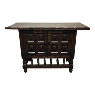 Antique Spanish Style Oak Sideboard Credenza