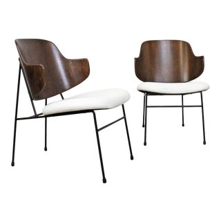 Pair of Mid-Century Danish Modern Ib Kofod Larsen Selig Penguin Chairs For Sale